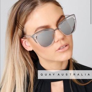 Quay My Girl Sunglasses Clear and Silver NWT